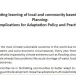 Consolidating learning of local and community based adaptation planning: Implications for Adaptation Policy and Practice
